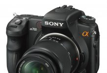 The Sony Alpha 700 digital SLR camera
