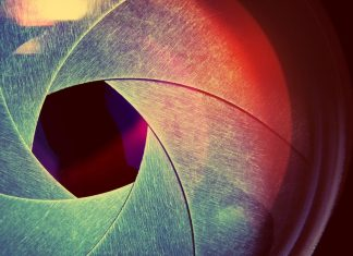 The aperture is the space through which light passes